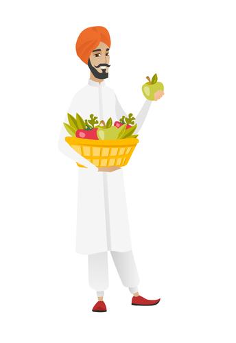 Hindu man with vegetables