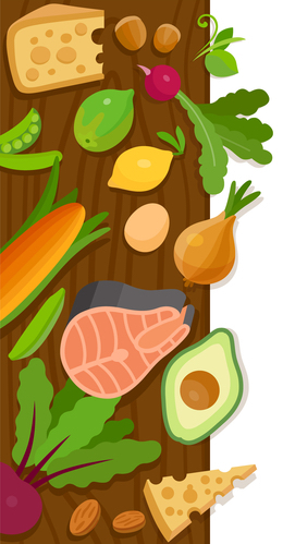 Foods that may be part of a vegetarian diet